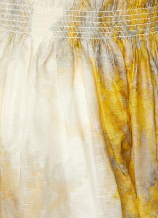 - ZIMMERMANN - Wattle Graphic Print Linen Silk Blend Flip Skirt