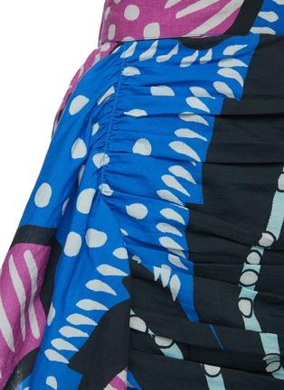 - RHODE RESORT - 'Hannah' Floral Print Ruch Cotton Mini Skirt