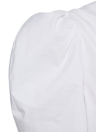 - RHODE RESORT - 'Nisha' Reversible Puff Sleeve Cotton Blouse