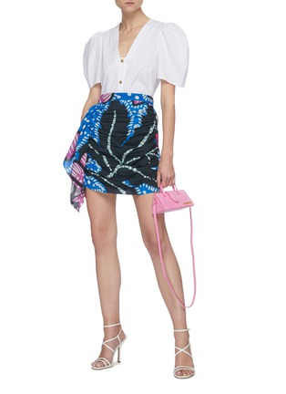 Figure View - Click To Enlarge - RHODE RESORT - 'Nisha' Reversible Puff Sleeve Cotton Blouse