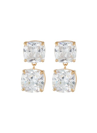 Main View - Click To Enlarge - CZ BY KENNETH JAY LANE - Cushion cubic zirconia dangle earrings