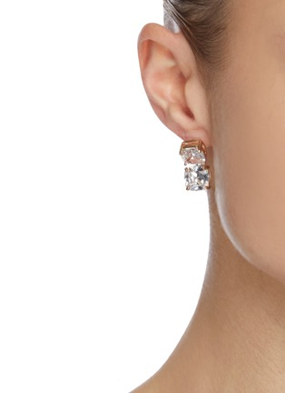 Figure View - Click To Enlarge - CZ BY KENNETH JAY LANE - Cushion cubic zirconia dangle earrings