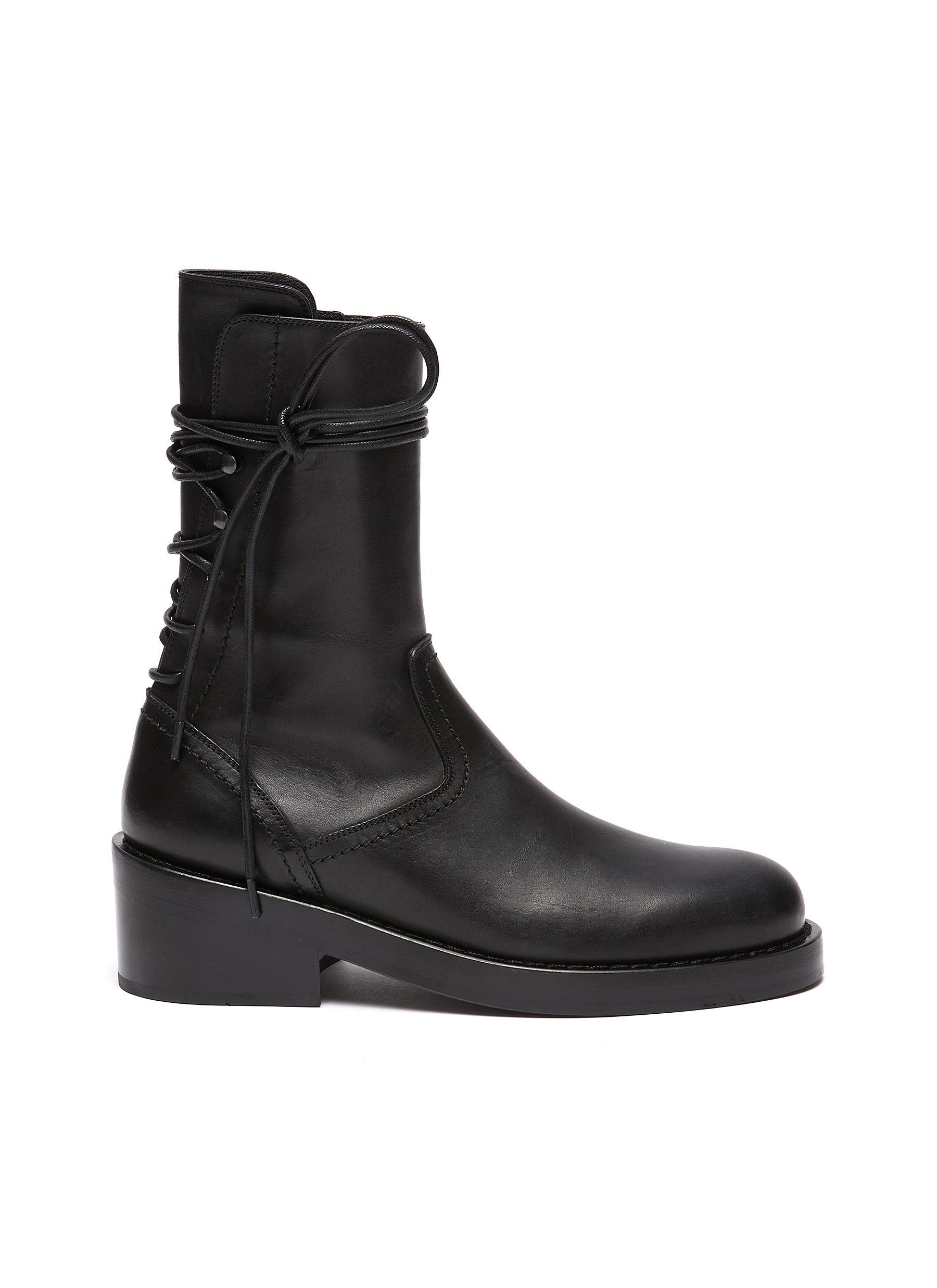 Leather ankle boots - ANN DEMEULEMEESTER - Modalova