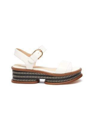 Main View - Click To Enlarge - GABRIELA HEARST - 'Mika' cork wedge platform sandals
