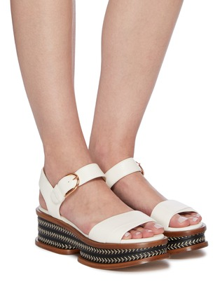 Figure View - Click To Enlarge - GABRIELA HEARST - 'Mika' cork wedge platform sandals
