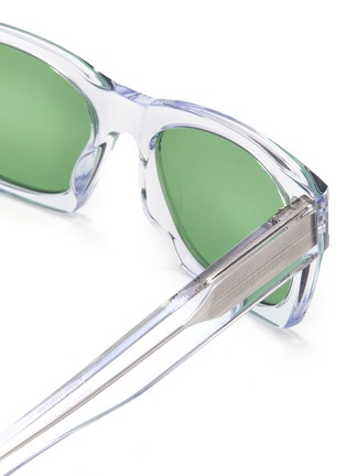 Detail View - Click To Enlarge - SAINT LAURENT - SL 402' square clear acetate frame sunglasses