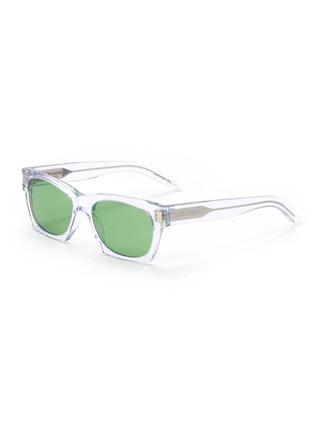Main View - Click To Enlarge - SAINT LAURENT - SL 402' square clear acetate frame sunglasses