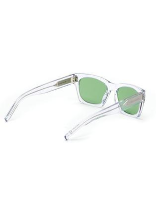 Figure View - Click To Enlarge - SAINT LAURENT - SL 402' square clear acetate frame sunglasses