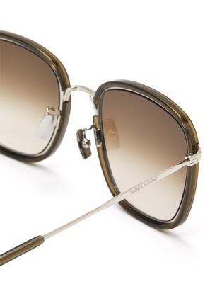 Detail View - Click To Enlarge - SAINT LAURENT - Square acetate frame sunglasses