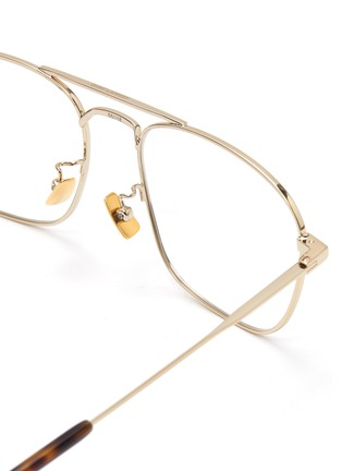Detail View - Click To Enlarge - SAINT LAURENT - Square metal frame optical glasses
