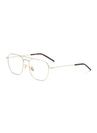 Main View - Click To Enlarge - SAINT LAURENT - Square metal frame optical glasses