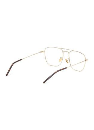 Figure View - Click To Enlarge - SAINT LAURENT - Square metal frame optical glasses