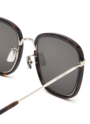 Detail View - Click To Enlarge - SAINT LAURENT - Square tortoiseshell effect acetate frame sunglasses