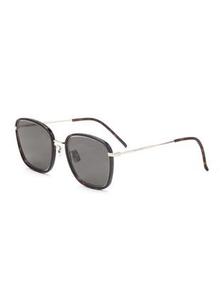 Main View - Click To Enlarge - SAINT LAURENT - Square tortoiseshell effect acetate frame sunglasses