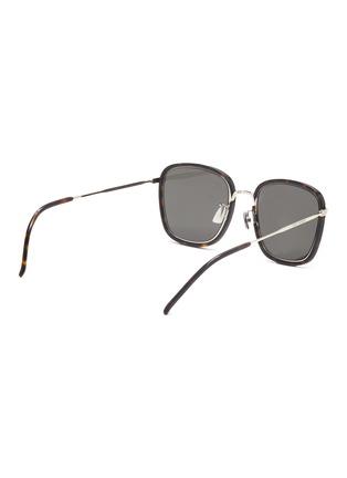 Figure View - Click To Enlarge - SAINT LAURENT - Square tortoiseshell effect acetate frame sunglasses