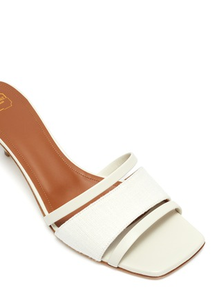 Detail View - Click To Enlarge - MALONE SOULIERS - 'Laney' linen leather sandals