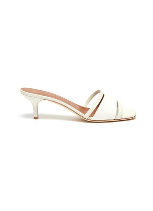 Main View - Click To Enlarge - MALONE SOULIERS - 'Laney' linen leather sandals
