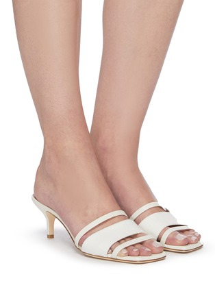 Figure View - Click To Enlarge - MALONE SOULIERS - 'Laney' linen leather sandals
