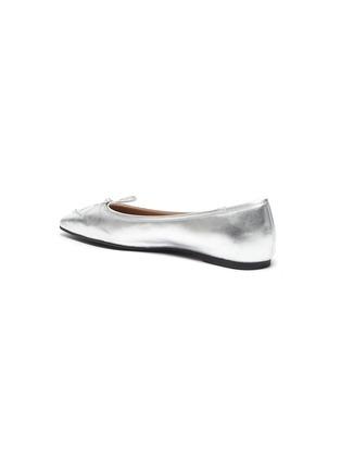 - PEDDER RED - 'Benedetta' square toe leather ballerina flats