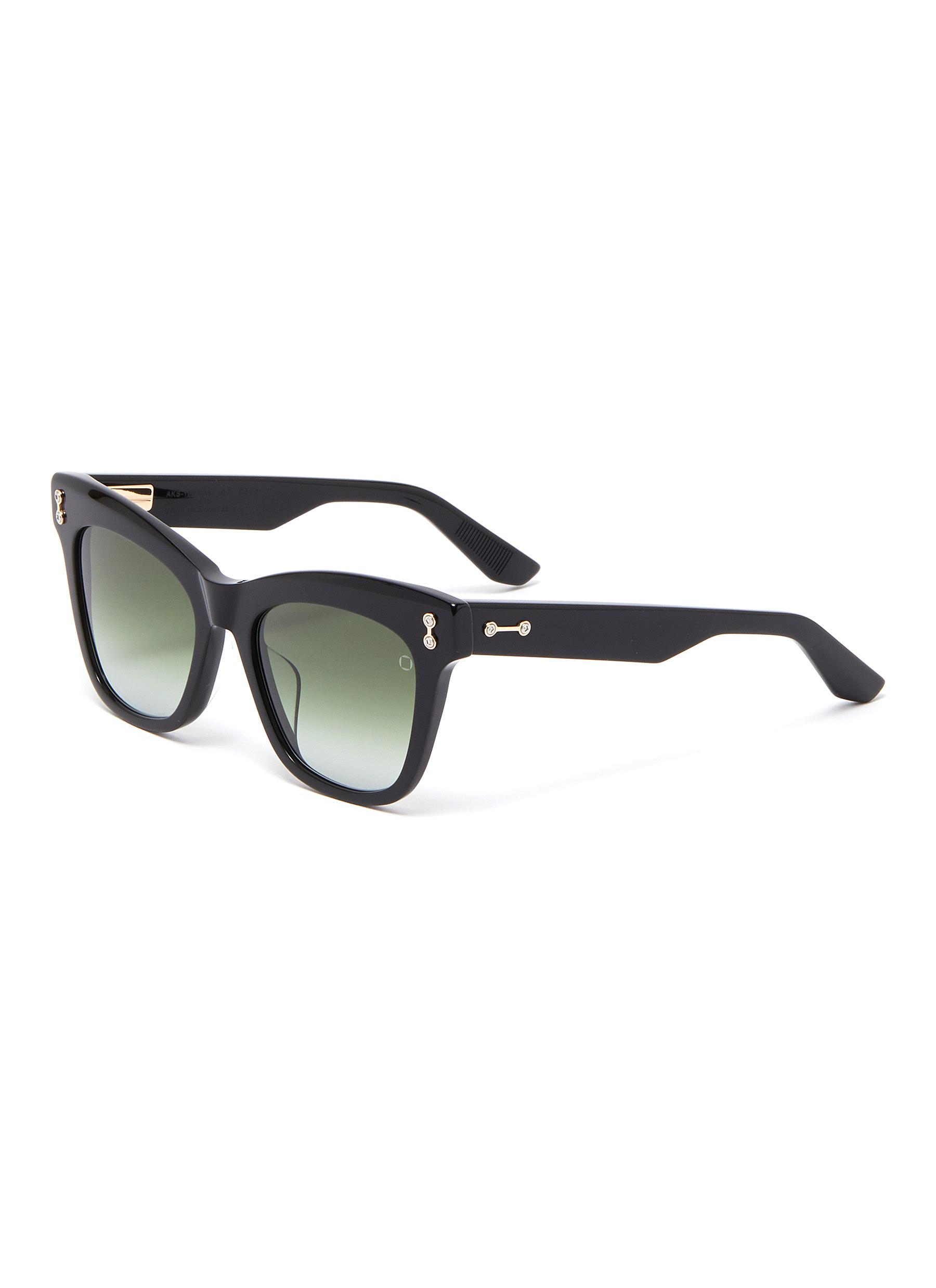 'Vela' acetate wayfarer sunglasses