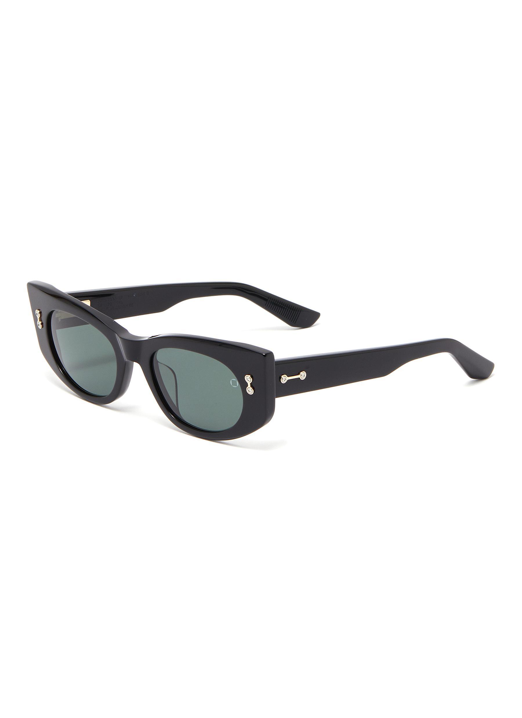 'Aquila' acetate frame oval sunglasses