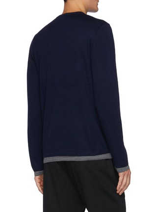 Back View - Click To Enlarge - VINCE - Double Layer Crewneck Sweater