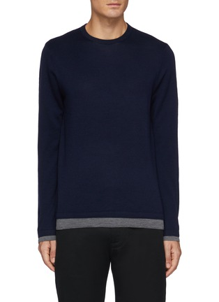 Main View - Click To Enlarge - VINCE - Double Layer Crewneck Sweater