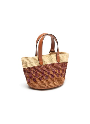 Detail View - Click To Enlarge - JW ANDERSON - Anchor charm panel raffia tote