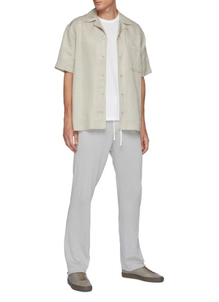 Figure View - Click To Enlarge - JAMES PERSE - Drawstring waist cotton sweatpants