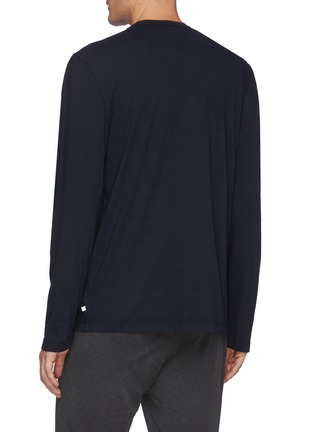 Back View - Click To Enlarge - JAMES PERSE - Crewneck cotton T-shirt