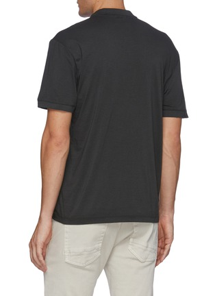 Back View - Click To Enlarge - JAMES PERSE - 'Elevated Lotus' jersey polo shirt