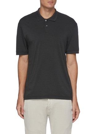 Main View - Click To Enlarge - JAMES PERSE - 'Elevated Lotus' jersey polo shirt