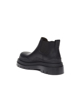 - BOTTEGA VENETA - 'Tire' Platform Tread Sole Ankle Chelsea Boots
