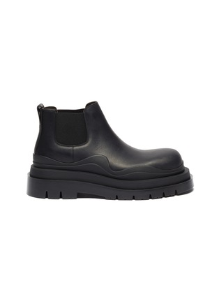Main View - Click To Enlarge - BOTTEGA VENETA - 'Tire' Platform Tread Sole Ankle Chelsea Boots