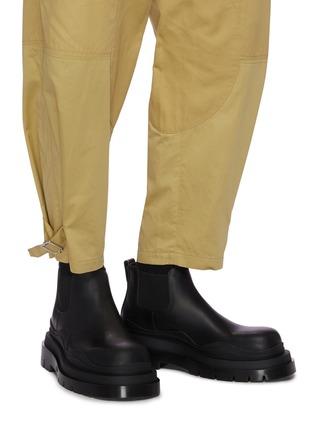 Figure View - Click To Enlarge - BOTTEGA VENETA - 'Tire' Platform Tread Sole Ankle Chelsea Boots