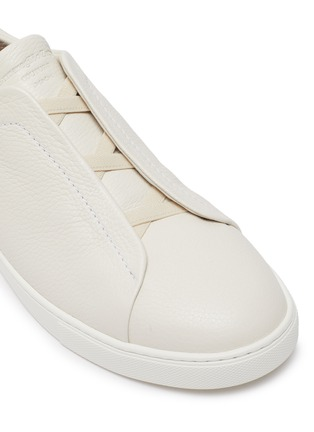 Detail View - Click To Enlarge - ERMENEGILDO ZEGNA - Triple stitch leather sneakers