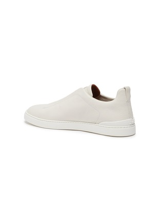 - ERMENEGILDO ZEGNA - Triple stitch leather sneakers