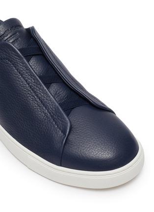 Detail View - Click To Enlarge - ERMENEGILDO ZEGNA - 'XXX' triple stitch leather sneakers