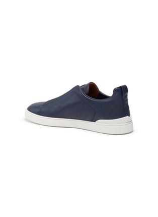 - ERMENEGILDO ZEGNA - 'XXX' triple stitch leather sneakers