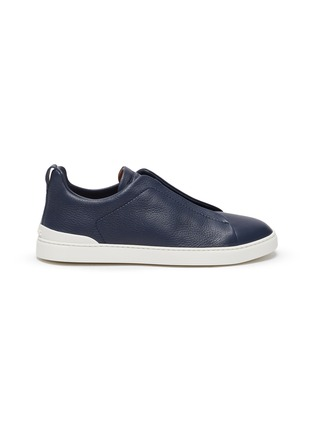Main View - Click To Enlarge - ERMENEGILDO ZEGNA - 'XXX' triple stitch leather sneakers