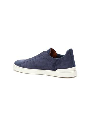 - ERMENEGILDO ZEGNA - Triple stitch suede sneakers