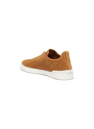 - ERMENEGILDO ZEGNA - Triple Stitch Slip-on Suede Sneakers
