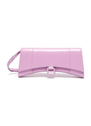 Main View - Click To Enlarge - BALENCIAGA - 'Hourglass Stretched' leather top handle bag