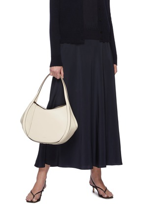 Figure View - Click To Enlarge - WANDLER - 'Lin' double strap leather tote bag