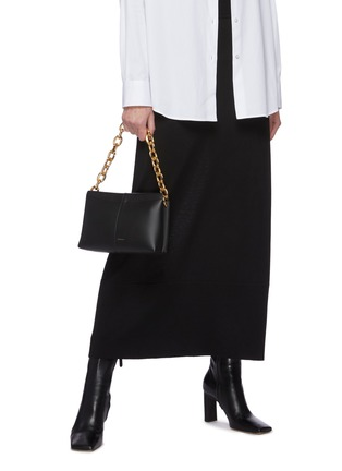 Figure View - Click To Enlarge - WANDLER - 'Carly' heavy chain mini leather shoulder bag
