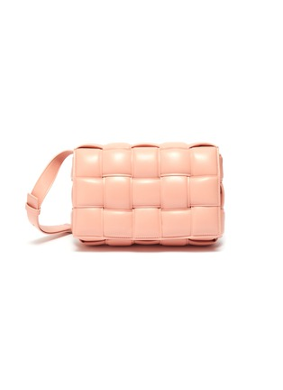 Main View - Click To Enlarge - BOTTEGA VENETA - 'Cassette' Padded Intrecciato Leather Crossbody Bag