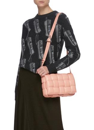 Figure View - Click To Enlarge - BOTTEGA VENETA - 'Cassette' Padded Intrecciato Leather Crossbody Bag