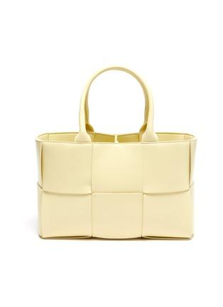 Main View - Click To Enlarge - BOTTEGA VENETA - Small Arco' intrecciato leather tote bag