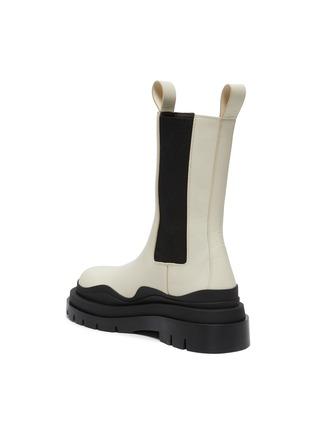 - BOTTEGA VENETA - 'Tire' Platform Tread Sole Leather Chelsea Boots
