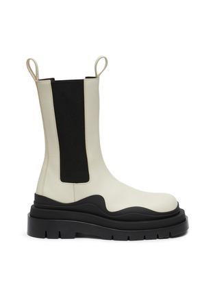 Main View - Click To Enlarge - BOTTEGA VENETA - 'Tire' Platform Tread Sole Leather Chelsea Boots